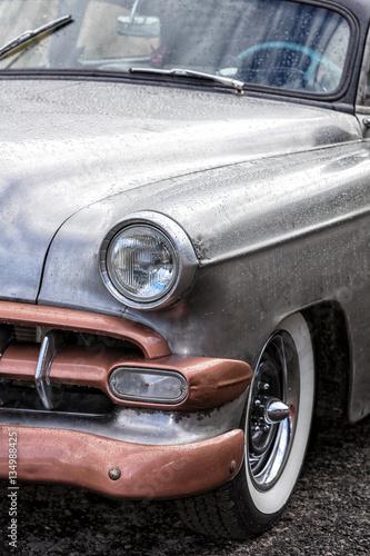 Poster Old cars Franken, Germany, 21 June 2015: Front detail of a vintage car