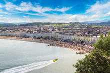 Panoramic View Of Llandudno In Wales