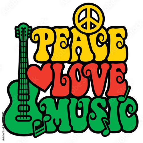 Foto  Reggae Peace-Love-Music
