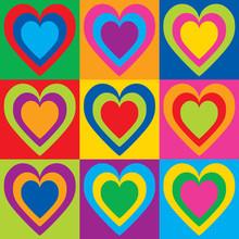 Pop Art Hearts
