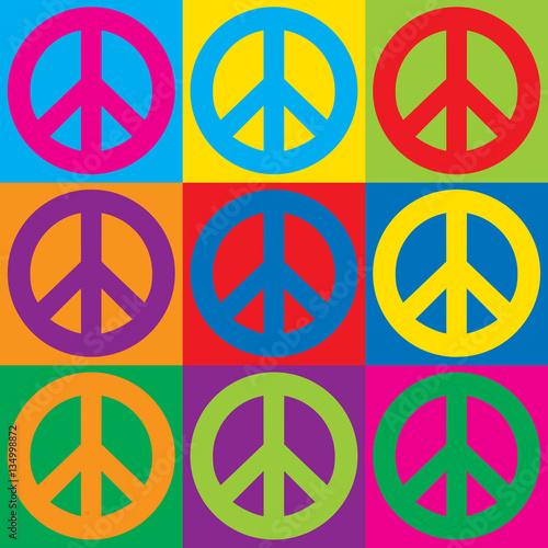 Foto  Pop Art Peace Symbols