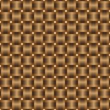 Seamless Pattern Braided Brown Ribbon