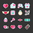 Set of valentine day for love and wedding card decoration icon i
