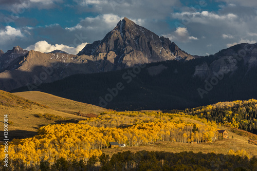 Photo OCTOBER 2, 2016 - San Juan Mountains In Autumn, near Ridgway Colorado - off Hast