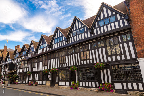 Half-timbered house in Stratford upon Avon Canvas Print