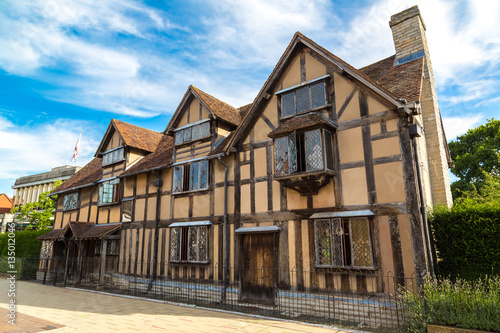 Shakespeares Birthplace in Stratford-upon-Avon Canvas Print