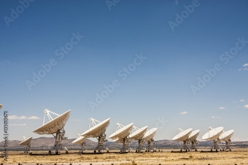 Radio telescope array Canvas Print