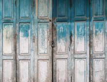 Old Grunge Wood Door Background