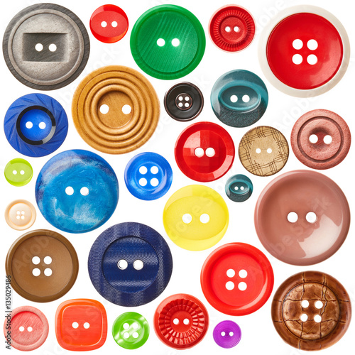 Poster Macarons Set of sewing buttons