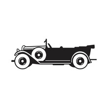 Vintage Car Vector Icon. Phaet...