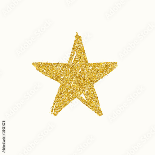 Gold glitter star Canvas-taulu