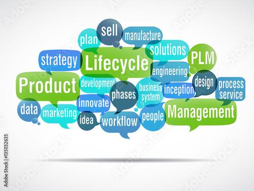Carta da parati word cloud : Product Lifecycle Management  PLM