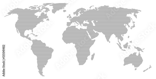Türaufkleber Weltkarte World Map