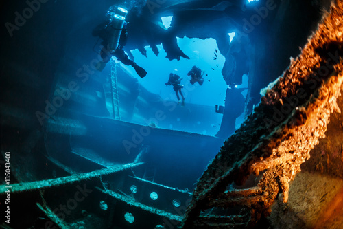 Fototapeta Shipwreck Um EL Faroud Malta obraz