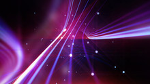 Streaking Shiny Purple Lines As Abstract Background