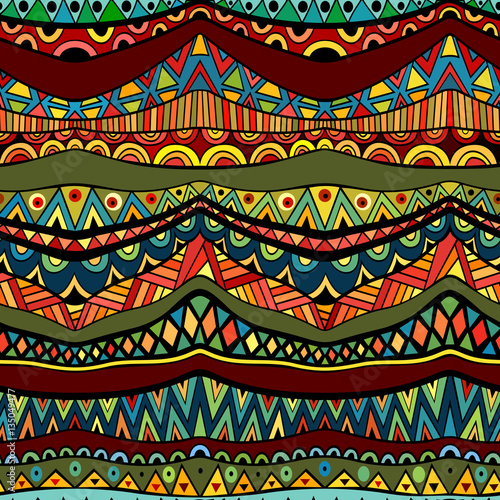 Cotton fabric Fancy ethnic seamless pattern