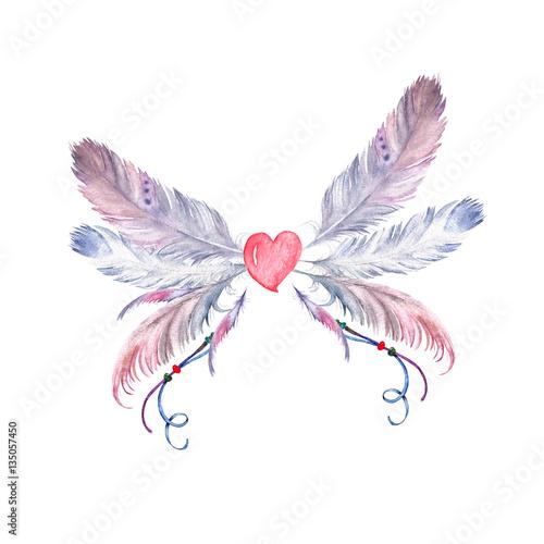 motyl-akwarela-pior-boho-recznie-rysowane-element-na-slub-karty-zaproszenia-tatuaz