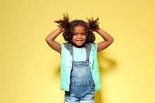Cute Little African American G...