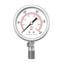 Pressure Gauge Manometer. 3d Rendering