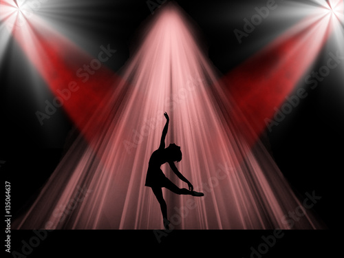 Ballet dancer on the stage Canvas Print