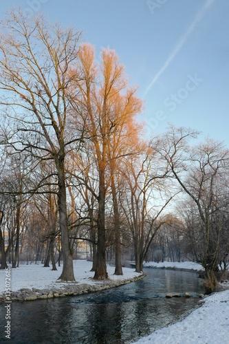 Münchens Englischer Garten Im Winter Buy This Stock Photo And