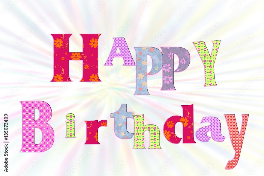 Happy Birthday Karte.Photo Art Print Happy Birthday Karte Europosters