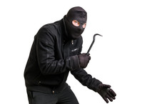 Masked Thief In Balaclava With...