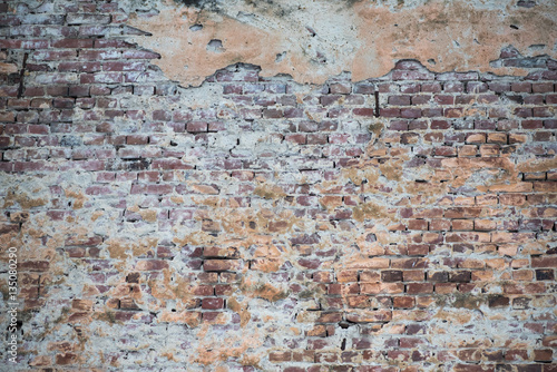 Canvas Prints Old dirty textured wall Old brick wall building