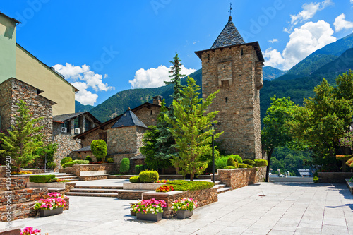 Historic District in Andorra la Vella Wallpaper Mural