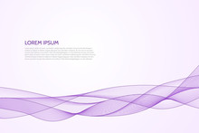 Vector Abstract Wavy Purple Background.