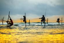 Traditional Fishermen On Stick...
