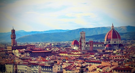 Fototapeta Florence Italy Fantastic view from Michelangelo Square