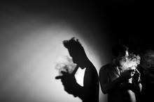 Addictive Man Smoking Marijuana