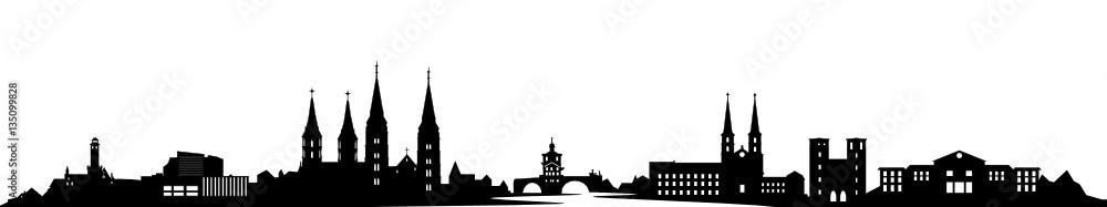 Fototapety, obrazy: Skyline Bamberg