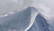Mountain Peak Covered In Snow ...