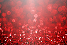 Fancy Ruby Red Valentine's Day Or Christmas Glitter Sparkle Background Or Party Invite