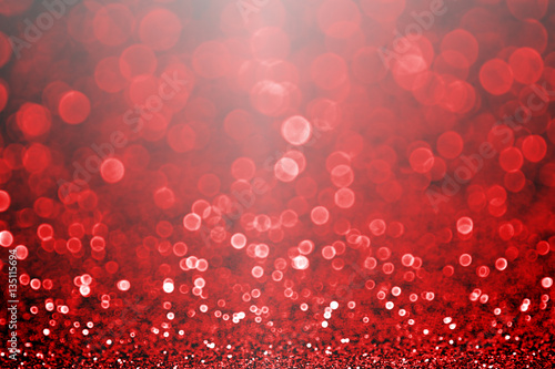 Fotografie, Obraz  Fancy ruby red Valentine's Day or Christmas glitter sparkle background or party