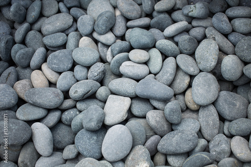 Grey, blue, gold wee pebbles background, South Miami Beach, Florida, USA Poster