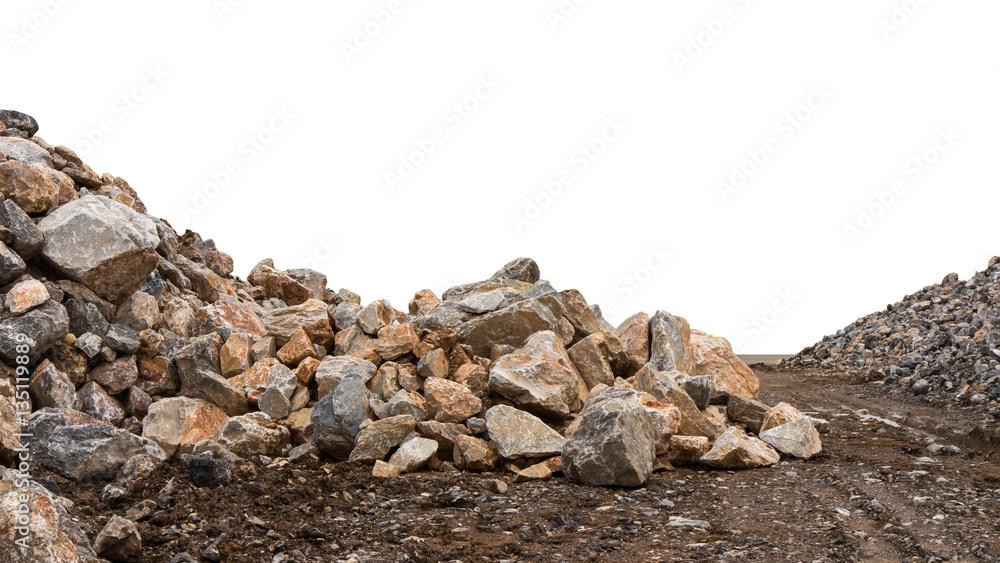 Fototapety, obrazy: Granite stones on the ground.