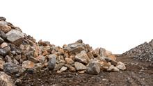 Granite Stones On The Ground.