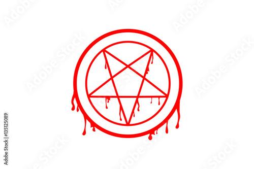 Photo pentagram in circle  vector