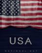 Flag American Colors, USA Flag (3D Render)