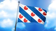 Friesland Flag, 3D Rendering