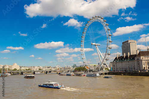 Photo London eye, large Ferris wheel, London