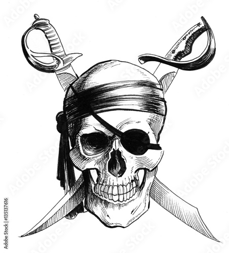 Pirate Skull Fototapeta