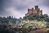 January 04, 2017: Panoramic view of the medieval castle of Almourol, Portugal