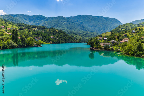 Printed kitchen splashbacks Khaki July 11, 2016: Neretva River in the countryside of Bosnia