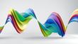 canvas print picture - Rainbow spectrum twisted 3D shape