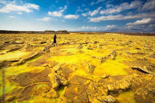 Foto op Aluminium Heuvel Dallol volcano in Danakil Depression - Afar region - Ethiopia