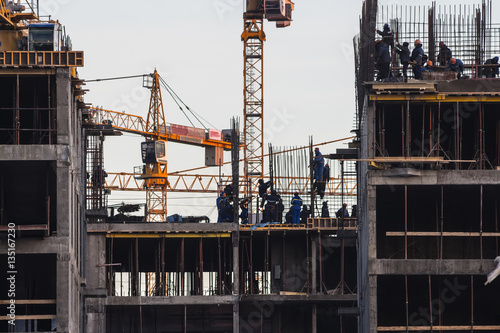 Fotografie, Obraz  steeplejack workers on construction activities